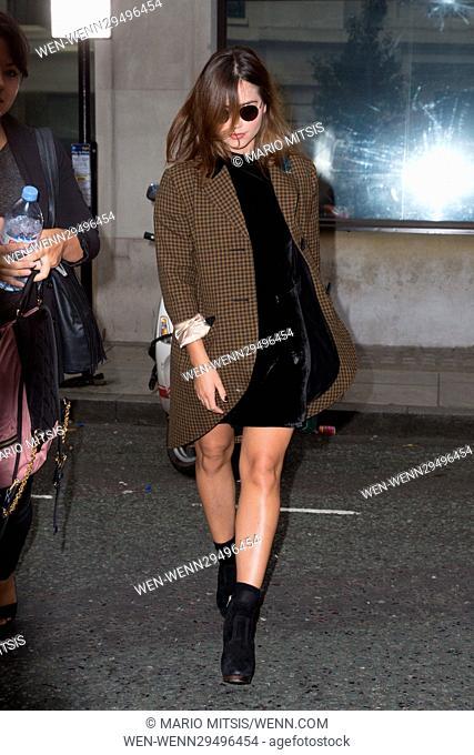 Jenna Coleman arriving at the BBC Radio 2 studios Featuring: Jenna Coleman Where: London, United Kingdom When: 09 Sep 2016 Credit: Mario Mitsis/WENN