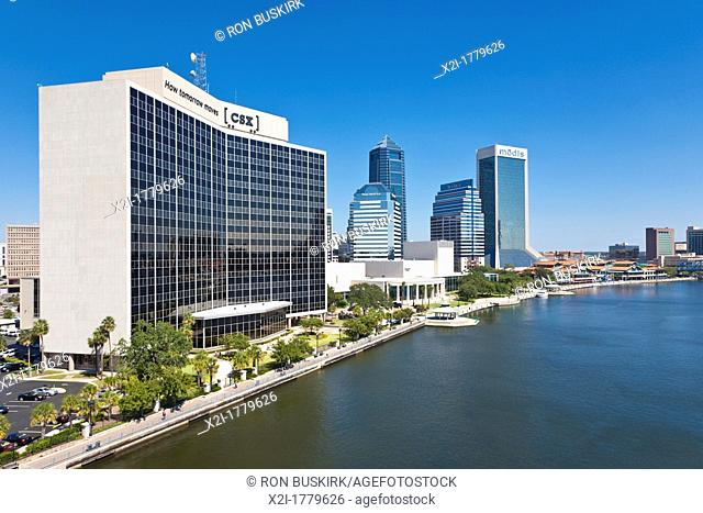 CSX Transportation building on the Northbank Riverwalk in downtown Jacksonville, FL