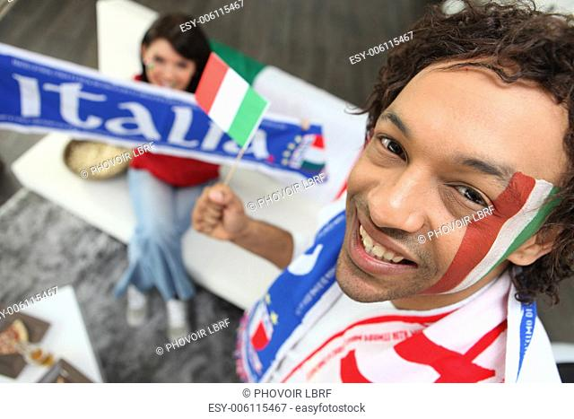 Man supporting the Italians
