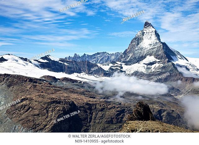 View of the Matterhorn, Gornergrat, Zermatt, Switzerland