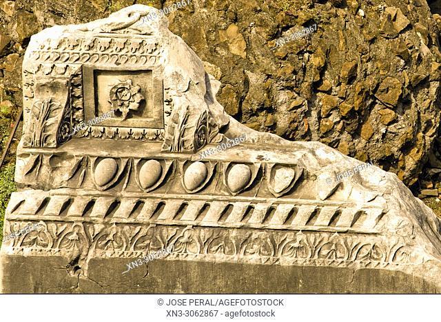 Archaeological site Trajan's Forum, Via dei Fori Imperiali, Rome, Lazio, Italy, Europe