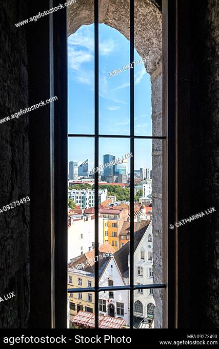Estonia, Tallinn, view from the town hall tower in the direction of the old town and Neustadt