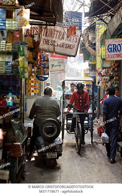 India. Delhi. Main Bazar