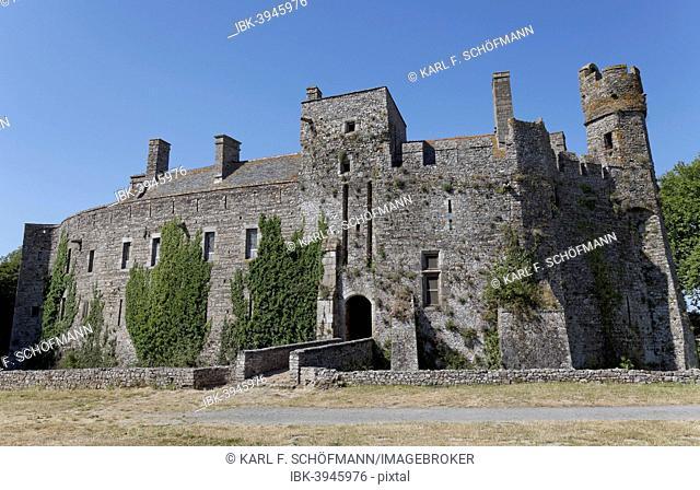 Chateau Fort de Pirou, medieval castle, Lessay, Cotentin Peninsula or Cherbourg Peninsula, Manche, Lower Normandy, France