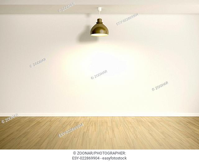 room with lamp