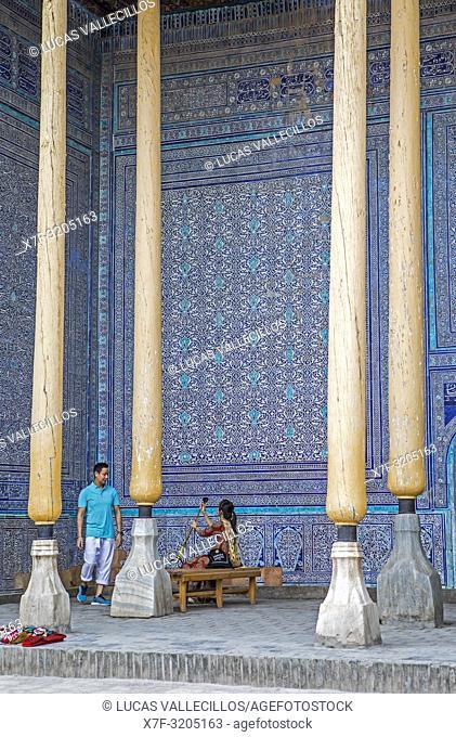 Summer Mosque, inside Kuhna Ark, Khiva, Uzbekistan