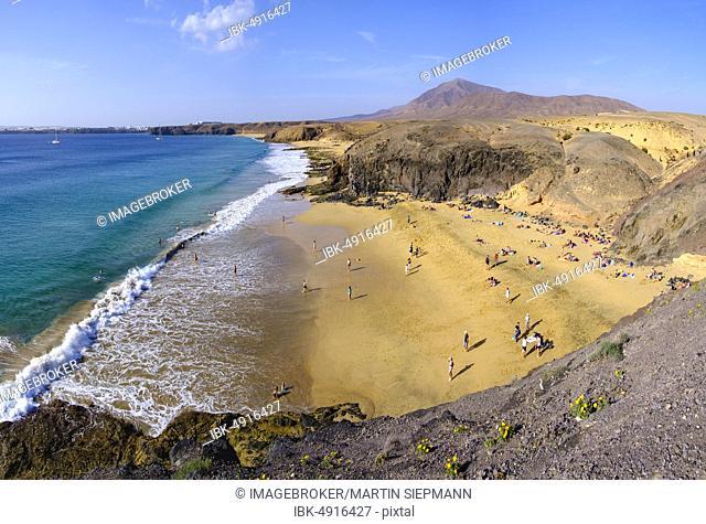 Playa de la Cera, Papagayo beaches, Playas de Papagayo, near Playa Blanca, Lanzarote, Canary Islands, Spain, Europe