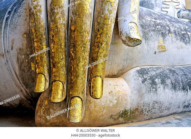 Buddha Gautama, Hand, detail