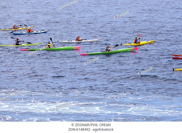 Myriam Guillot and Jacky Boisset kayaking