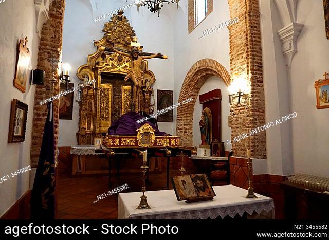 Altar in the Ermita de la Caridad. Town of Fuenteobejuna (aka Fuenteovejuna, Fuente Ovejuna or Fuente Obejuna), Province of Cordoba, Andalucia, Spain, Europe
