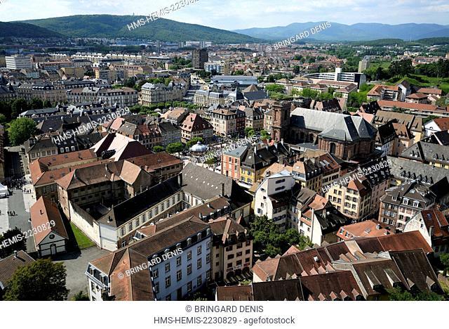 France, Territoire de Belfort, Belfort, Place d Armes, bandstand, overlooking the city, the Salbert, the Vosges, while FIMU Festival Internationnal de Musique...