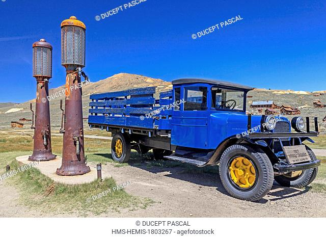 United States, California, Bodie State Historic Park, the gold mining ghost town of Bodie, a National Historic Landmark, an old truck