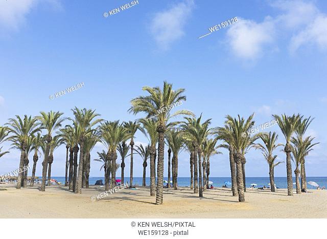 Torremolinos, Costa del Sol, Malaga Province, Andalusia, southern Spain. Playamar beach