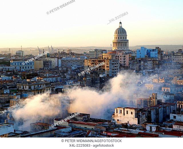 Havanna Vieja, old city, Capitol, Capitolio, Cuba, Havanna