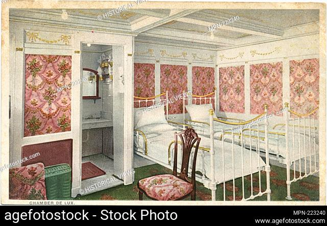 Chamber De Lux, Ships. Detroit Publishing Company postcards Unnumbered cards. Date Issued: 1898 - 1931 Place: Detroit Publisher: Detroit Publishing Company