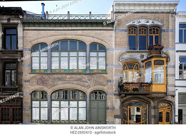 Maison-Atelier Louise de Hem, 15-17 Rue Darwin, Brussels, Belgium, (1902-1905), c2014-c2017. Artist: Alan John Ainsworth