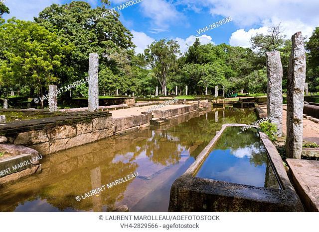 Main Refectory of Abayagiri Monastery, Sacred City of Anuradhapura, North Central Province, Sri Lanka, Asia