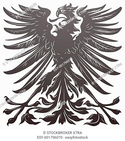 Imperial eagle most resembling that used on the coat of arms of the German empire in the late 19th century