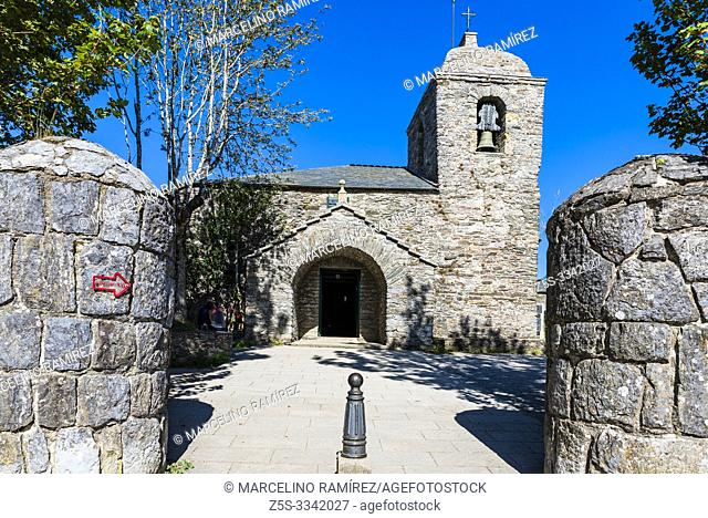"""The Royal St. Mary's Church, also known as the Church of St. Benedict, was built in O Cebreiro in 1965â. """"71 on the foundations of a pre-Romanesque church..."""