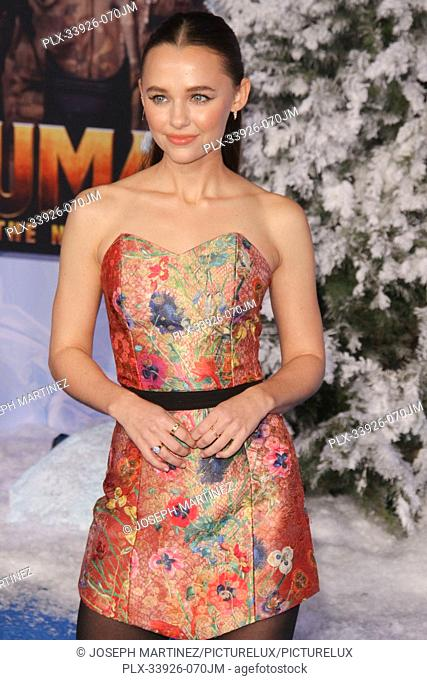 """Madison Iseman at Sony Pictures' """"""""Jumanji: The Next Level"""""""" World Premiere held at the TCL Chinese Theater in Hollywood, CA, December 9, 2019"""