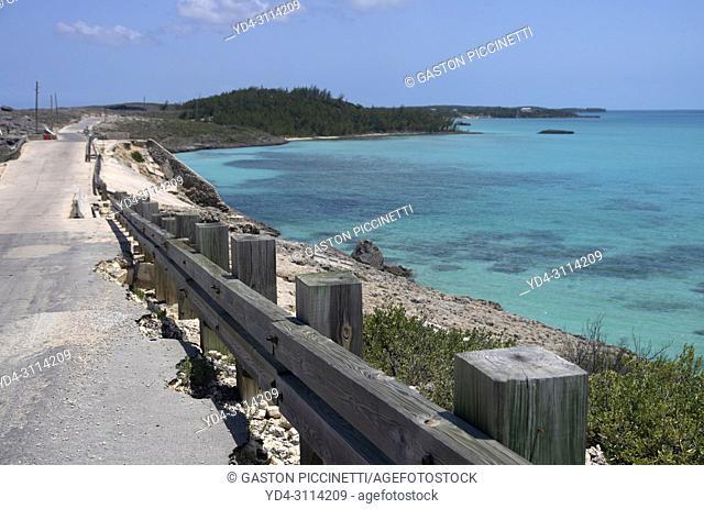 Near to Glass Window Bridge, Eleuthera island, Bahamas