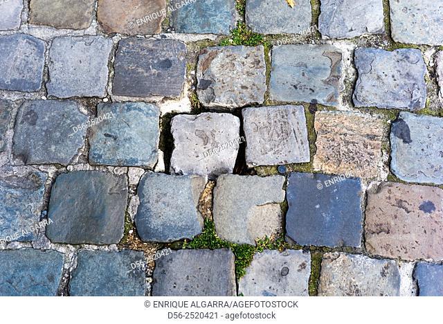 Cobblestones, Brussels, Belgium