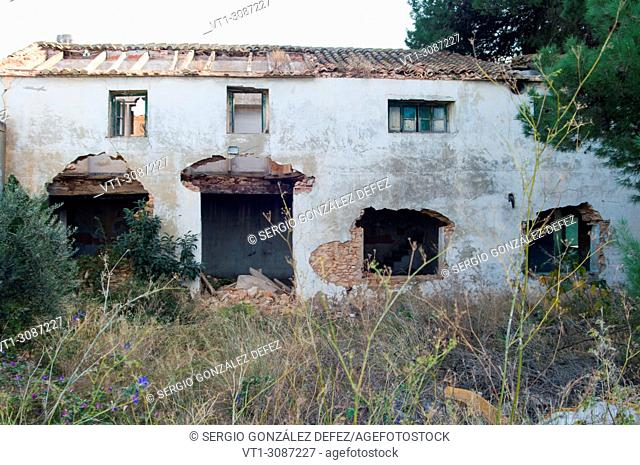 Left house and way demolished in Valencia(Spain)
