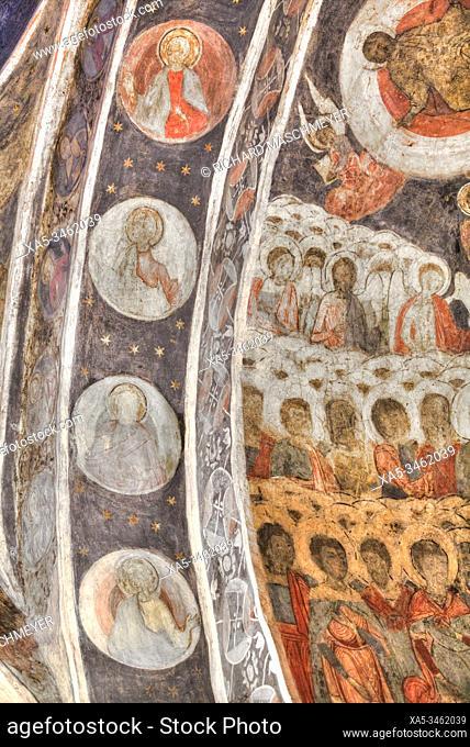 Frescoes, Stavropoleos Monastery, 1724, Old Town, Bucharest, Romania