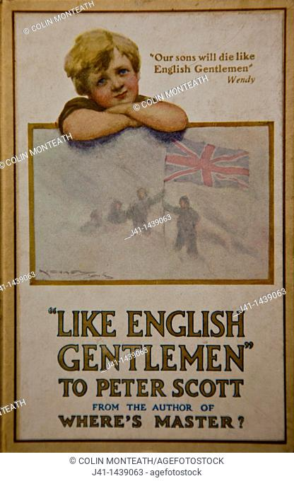 'Like English Gentlemen - to Peter Scott' by JM Barrie, author of Peter Pan; Barrie was related to Sir Robert Falcon Scott
