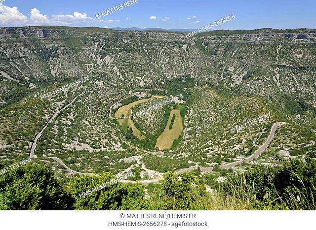 France, Gard, the Causses and the Cevennes, Mediterranean agro pastoral cultural landscape, listed as World Heritage by UNESCO, Saint Maurice Navacelles