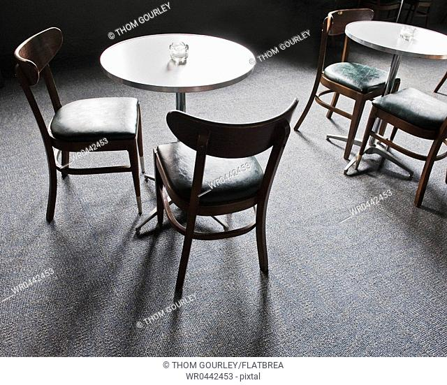 Tables and Chairs in a Cafe