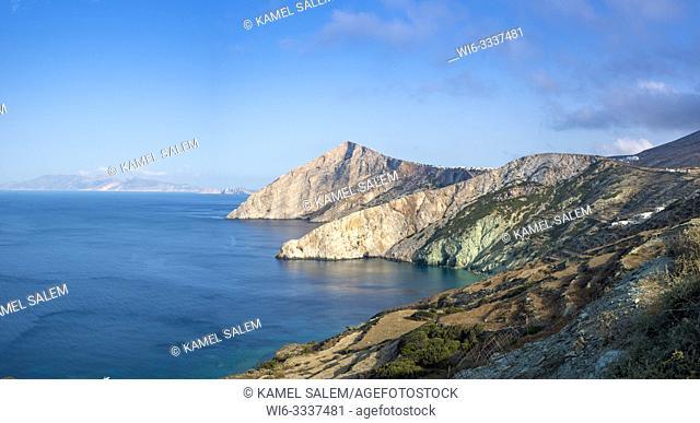 View on the coast, Folegandros island, Cyclades, Greece