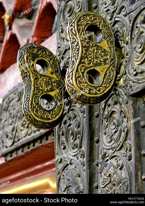 Door Locks Detail. The Forbidden City. . Beijing. P. R. of China. . The Forbidden City was the Chinese imperial palace from the mid-Ming Dynasty to the end of...