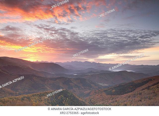Autumn in Pikatua viewer, Navarre, Spain