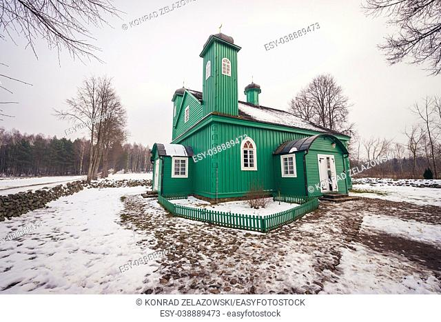 Mosque in Kruszyniany village, former Polish Tatars settlement within Sokolka County, Podlaskie Voivodeship of Poland