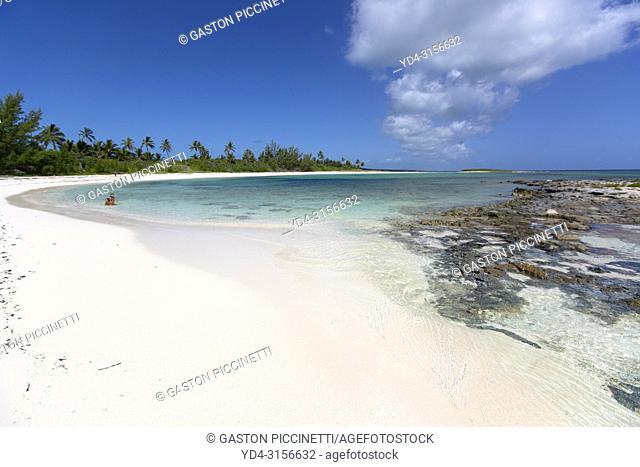 Twin Cove Beach, Eleuthera island, Bahamas
