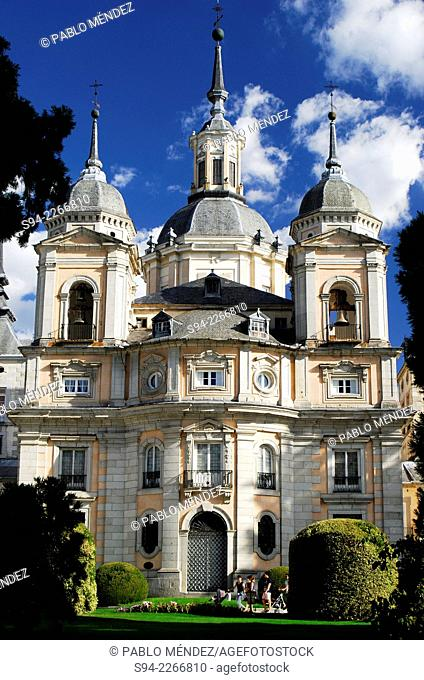 Palace of La Granja de San Ildefonso in Segovia province, Spain