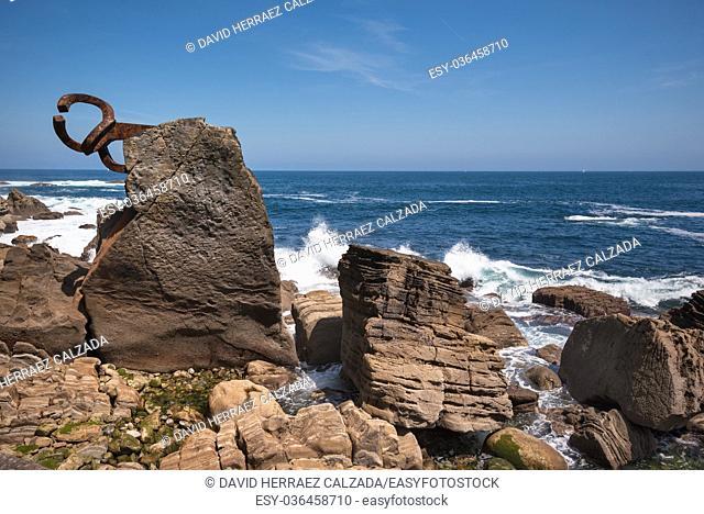 San Sebastian coastline landscape in peine de los vientos