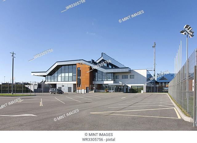 Empty Airport Parking Lot
