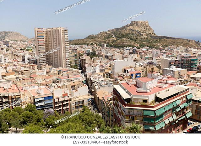 Views of the city of Alicante, Spain. Shot taken from Monte Tossal and San Fernando Castle