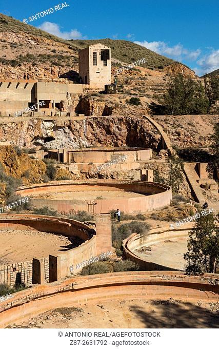 Rodalquilar gold mines, Parque Natural del Cabo de Gata, Almeria province, Andalusia, Spain