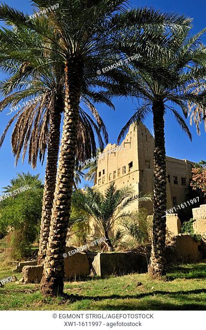 historic adobe city Al Hamra, Dakhliyah Region, Sultanate of Oman, Arabia, Middle East