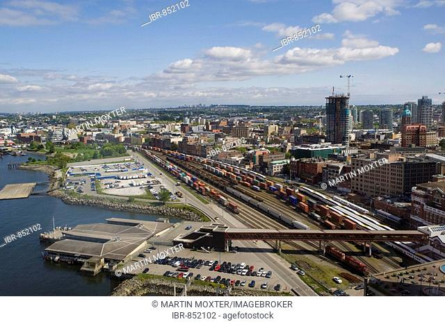 Container station, Vancouver, British Columbia, Canada, North America