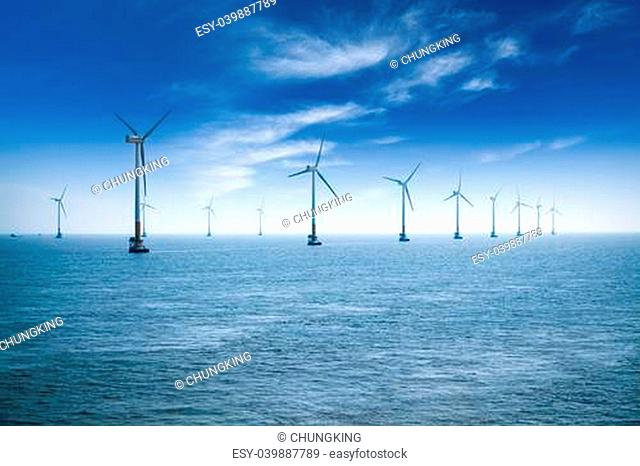 offshore wind farm in shanghai in the east China sea