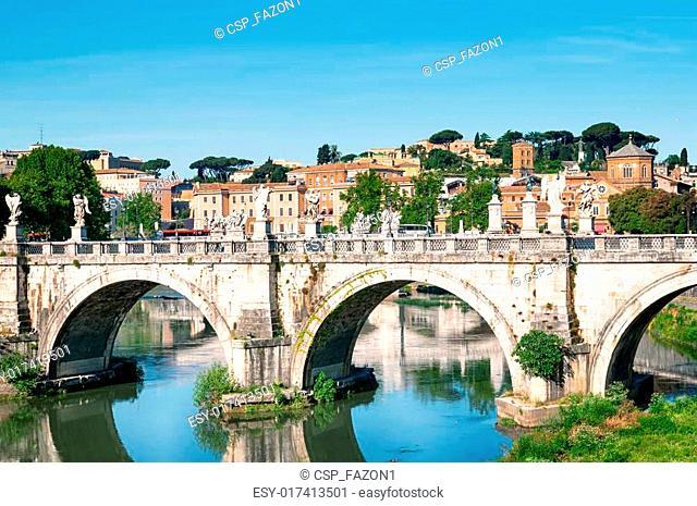 St. Angelo Bridge in Rome, Italy