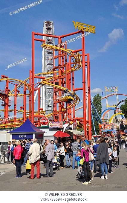 Volare -Hochschaubahn im Wurstelprater, Wien, 2. Bezirk, Prater, Sehenswürdigkeit, Freizeit, Vergnügungspark, Sehenswürdigkeit, Besucher, Tourismus