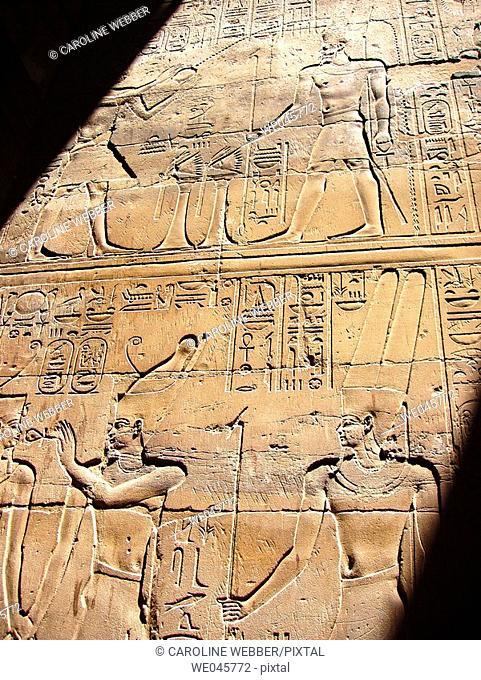 Hieroglyphs at Luxor Temple