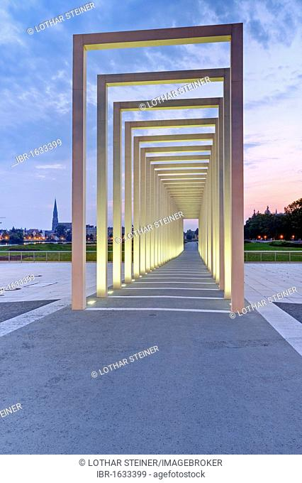Portico, entrance to the site of the Federal Garden Show in 2009, Schwerin, Mecklenburg-Western Pomerania, Germany, Europe