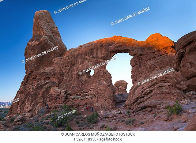 North and South Window, Arches National Park, Colorado Plateau, Utah, Grand County, Usa, America