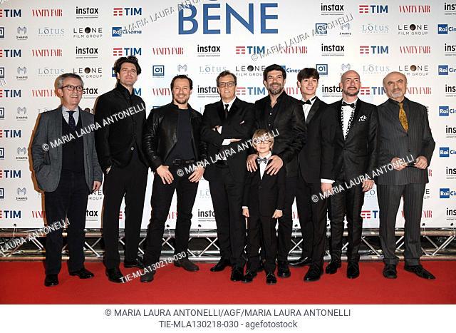 Cast of film : the director Gabriele Muccino, Giampaolo Morelli, Stefano Accorsi, Pierfrancesco Favino, Christian Marconcini, Renato Raimondi